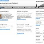 Aachen rechnet mit Ihnen   Bürgerbeteiligung am Haushalt