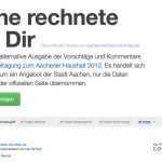 Oche rechnete mir Dir_ inoffizielle Ausgabe der Bürgerbefragung zum Haushalt Aachen-1